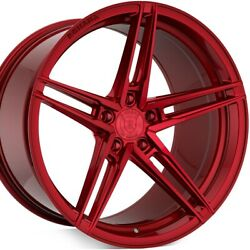 20 Rohana Rfx15 20x9 Red Concave Wheels Rims For Audi A4 S4