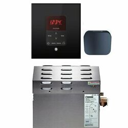 Mr Steam - Steam Bath Generator Package In Square Black Finish With Free...