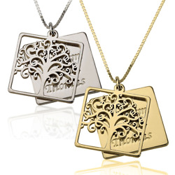 Tree Of Life Necklace - Mother / Grandmother Necklace - Mom / Grandma Pendant
