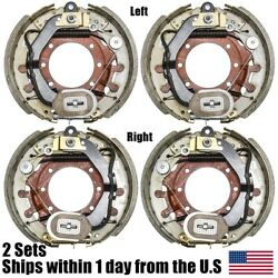 4pk 12.25 X 4 Electric Trailer Brake Assembly 10,000 Lbs Axle 2 Left+2 Right
