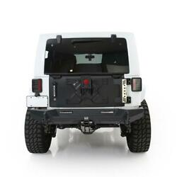 Xrc Tailgate And Tire Carrier Fits Jeep Jk/jku Wrangler 07-18 Up To 37in Tire