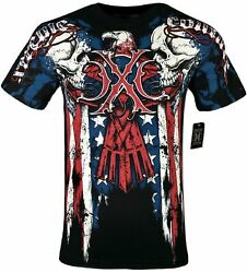 XTREME COUTURE by AFFLICTION Men T Shirt COUTURE PATRIOT Tatto Biker MMA S 4X