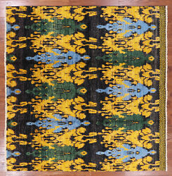 8' Square Ikat Hand Knotted Area Rug - P5471