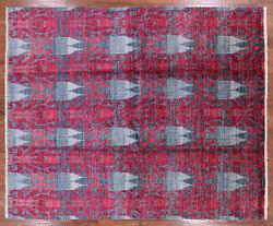 Ikat Hand Knotted Area Rug 8' 2 X 9' 10- P6226