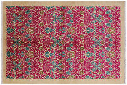 6' 1 X 8' 10 Hand Knotted William Morris Area Rug - P6501