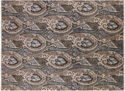 7and039 11 X 10and039 7 William Morris Handmade Rug - P7019