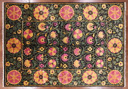 6and039 2 X 9and039 1 William Morris Handmade Wool Area Rug - Q1816