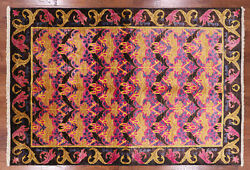 William Morris Hand Knotted Wool Area Rug 6' 1 X 8' 10- Q1839