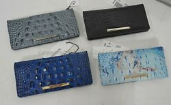 Nwt Brahmin Ady Bi-fold Leather Wallet Pick Your Color Inventory Added Regularly