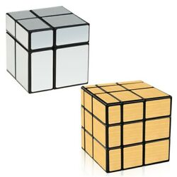 Speed Cube Set 2x2 3x3 Irregular Mirror Cube Puzzle 2 Packs Fastest Cubes Gift