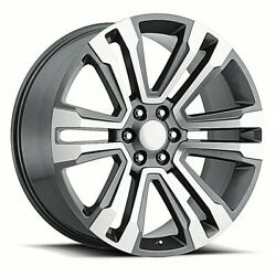 Fits 22 Tires Package Wheels Rims Machine Grey For Cadillac Escalade Esv Ext