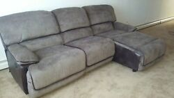Large Sofa W/ 3 Connecting Seating Areas With Chase And Chair End Both Motorized