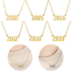 Women Girls Necklace Year Number Pendant 1980 To 2019 Special Birth Date