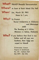 African Americana / Poster What Naacp Peaceful Demonstration Where In Front