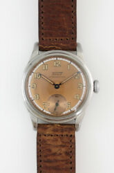 Tissot Small Second Copper Color Dial Manual Vintage Watch 1940and039s Overhauled