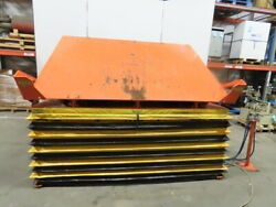 4000lb Pneumatic Scissor Lift And 30° Tilt 100x72 Table 13to 43 Height