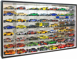 56 Hot Wheels 164 Scale Diecast Display Case Stand, No Door, Mirrored Back