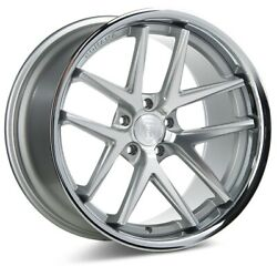 4set Staggered Rohana Wheels Rc9 20x9/20x10 5x112 +47/47 Silver/stainless Lip