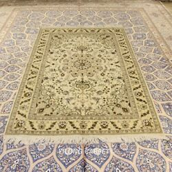 Clearance Yilong 4and039x6and039 Beige Handmade Wool Rug Living Room Woollen Carpet 2077
