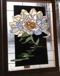 Brobdingnagian Stained Glass Flower Panel Multiple Colors This One Water Lilyandnbsp