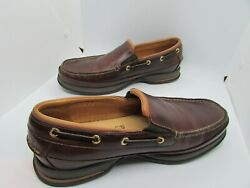 Sperry Top Sider Gold Cup Mens Loafers 9.5M Cognac Brown Replaced Insole Vibram