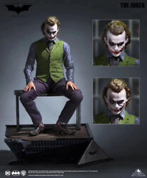 Queen Studios Qs 13 Scale The Joker Rooted Hair Statue Limited500 Resin Model