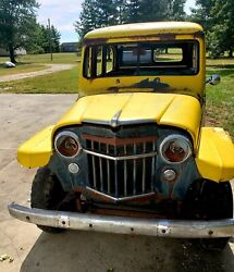 1957 Willys Wagon Yellow In Rebuild Able Condition