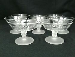 Mid Century L.g. Wright Three Faces Sauce Dishes/sherbet Cups 8