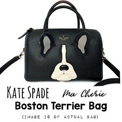 Kate Spade Antoine Ma Cherie Boston Terrier Dog Bag