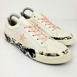 Converse One Star Oxford Youth 7 Creme Floral Low Shoes Bonus Laces Brand New