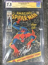 The Amazing Spiderman 100 Signed By Stan Lee