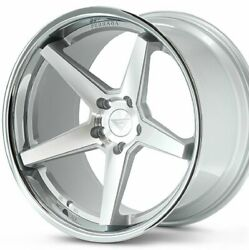 4 New 20 Ferrada Fr3 20x10 20x11.5 Silver W/chrome Concave Wheels B2