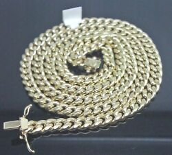 Real 10k Miami Cuban Necklace 24 Inch 8 Mm Box Lock With 8 Bracelet Set