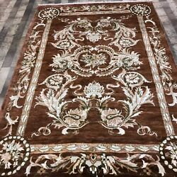 Yilong 5and039x7.5and039 Handmade Flowers Design Area Rug Hand Knotted Silk Carpets W221c