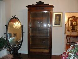 Price Reduced Magnificent Antique French Armoir/display W Full Glass Door