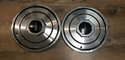 1980-1988 Lincoln Town Car 15 Wheel Hubcaps Set Of 2 Oem Fomoco