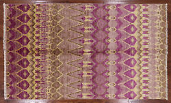 Modern Oriental Ikat Hand Knotted Area Rug 5 X 8 - P5271