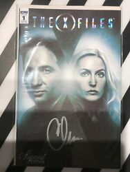 Idw X-files 1 Signed Ed Signed By Chris Carter 150 Ratio Variant Very Rare