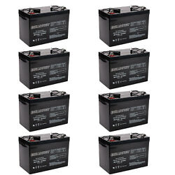 8x 12v 100ah Sealed Lead Acid Agm Battery Group 27 Replaces Ub121000