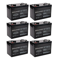6x 12v 100ah Sealed Lead Acid Agm Battery Group 27 Replaces Ub121000
