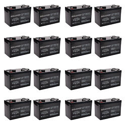 12x 12v 100ah Sealed Lead Acid Agm Battery Group 27 Replaces Ub121000