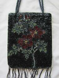 New Ladies Evening Beaded Floral Design Bag by Avenue