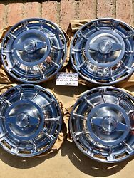 1959 Corvette Original Hubcaps With Spinners Beautiful Set Of 4 Ref 12-18
