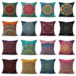 Set Of 12 Decorative Pillowcases For Couch Perfection Eternity Mandala