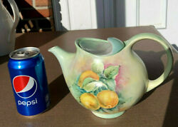 Hall China HALLCRAFT by EVA ZEISEL..TEAPOT  6-CUP ~ CUSTOM PAINTED FRUIT DECOR!