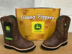 JOHN DEERE JOHNNY POPPERS  #JD2034    BOYS  LEATHER BOOTS $39.99