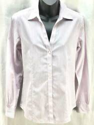 Brooks Brothers 346 Top 8 Pink Stripe Fitted Button Down Non-iron Career 5084
