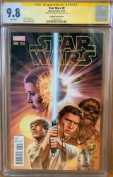 Han Solo 8 Cgc Signature Series 9.8 Signed By Harrison Ford Star Wars Comic