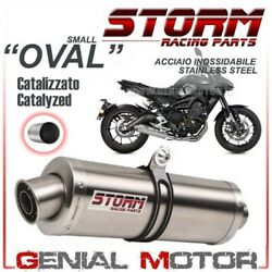 Catalyzed Full System Storm By Mivv Oval Stainless Steel Yamaha Mt-09 2013 2018