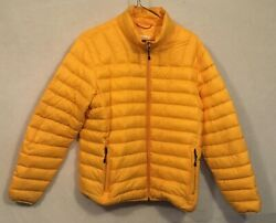Hawke & Co Men's Medium Quilted Down Puffer Jacket Yellow PO In Great Shape